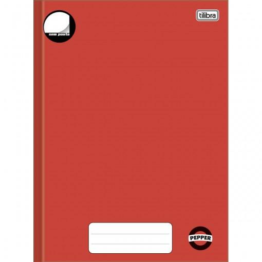 Caderno Brochura Capa Dura Universitário sem Pauta Pepper Vermelho 80 Folhas