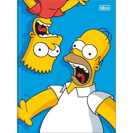 Caderno Brochura Capa Dura Universitário Simpsons 80 Folhas (Pacote com 5 unidades) - Sortido