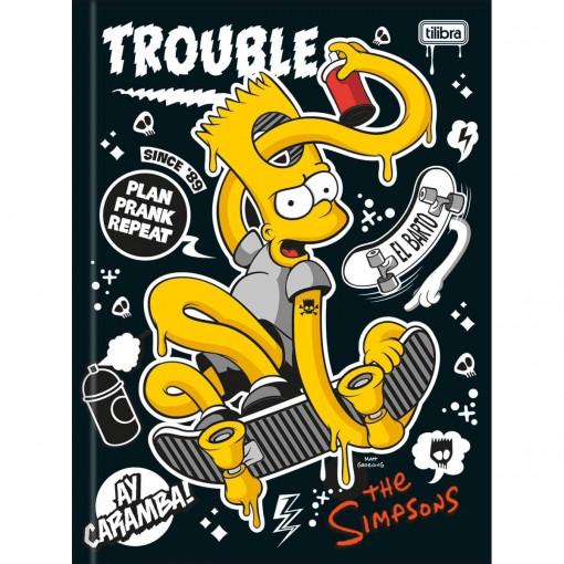 Caderno Brochura Capa Dura Universitário Simpsons 96 Folhas (Pacote com 5 unidades) - Sortido