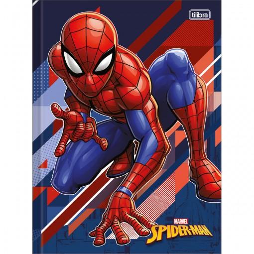Caderno Brochura Capa Dura Universitário Spider-Man 48 Folhas (Pacote com 5 unidades) - Sortido