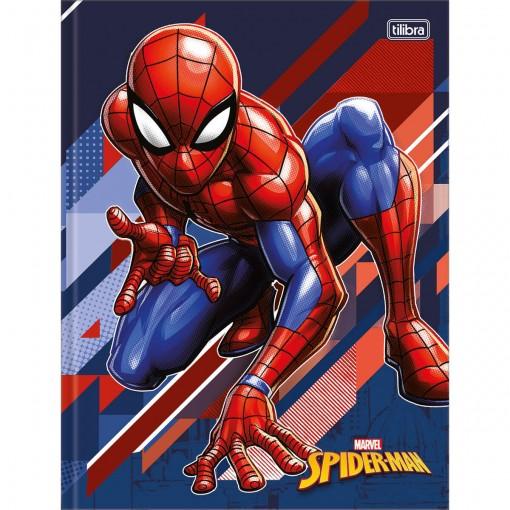 Caderno Brochura Capa Dura Universitário Spider-Man 80 Folhas (Pacote com 5 unidades) - Sortido