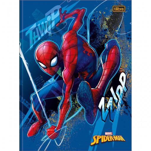 Caderno Brochura Capa Dura Universitário Spider-Man 80 Folhas - Spider-Man Capa Azul - Sortido