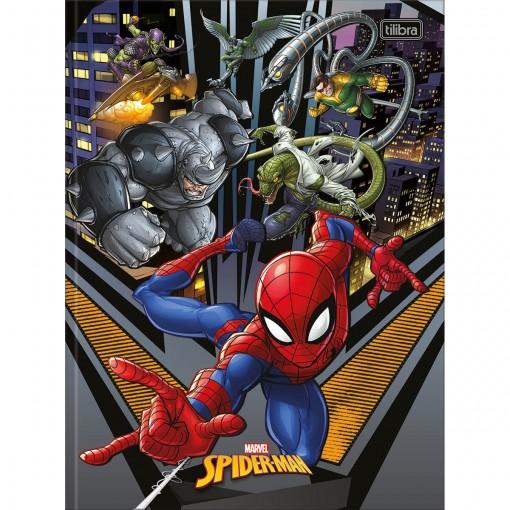 Caderno Brochura Capa Dura Universitário Spider-Man 80 Folhas - Spider-Man e Vilões - Sortido