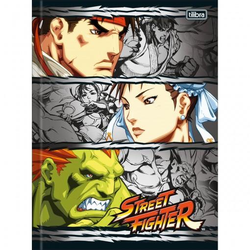 Caderno Brochura Capa Dura Universitário Street Fighter 80 Folhas (Pacote com 5 unidades) - Sortido