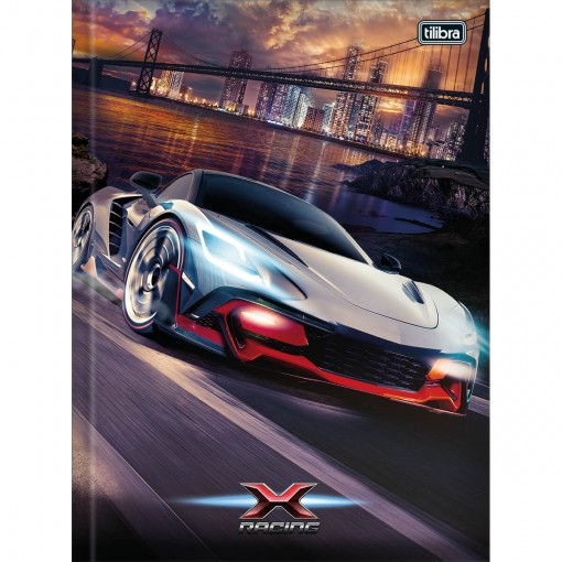 Caderno Brochura Capa Dura Universitário X-Racing 80 Folhas (Pacote com 5 unidades) - Sortido