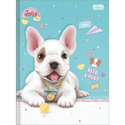 Caderno Brochura Universitário Capa Dura Jolie Pet 80 Folhas (Pacote com 5 unidades) - Sortido