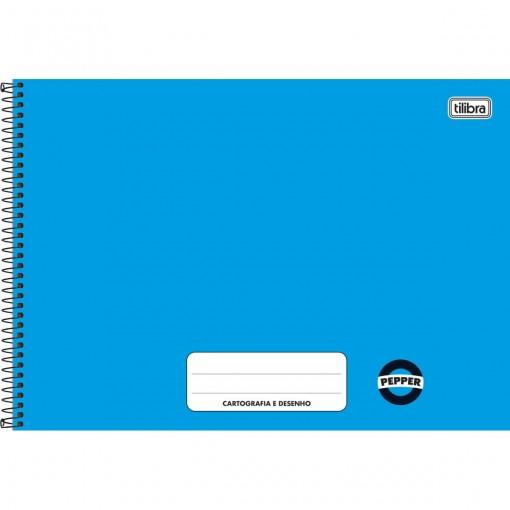 Caderno Cartografia e Desenho Pepper Azul 80 folhas