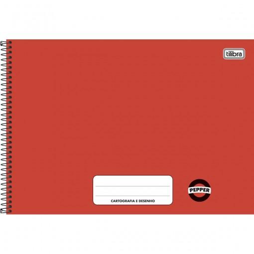 Caderno Cartografia e Desenho Pepper Vermelho 80 folhas