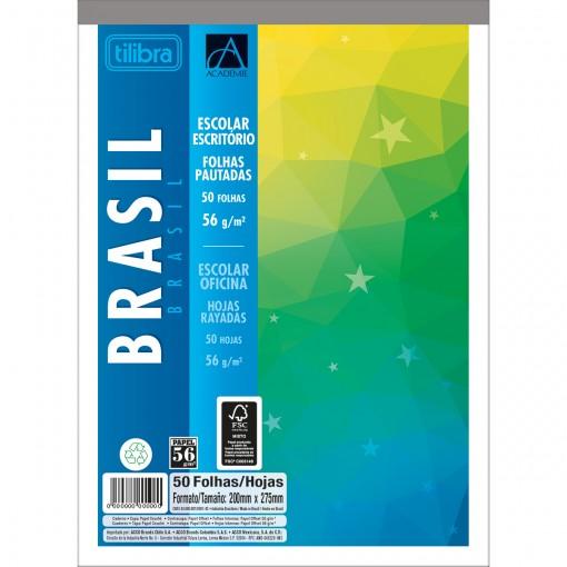 Caderno Colado ao Alto Académie Brasil 50 Folhas