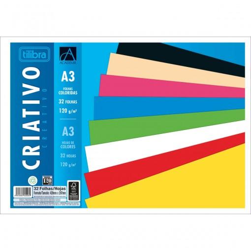 Caderno Colado Criativo A3 Académie 32 Folhas