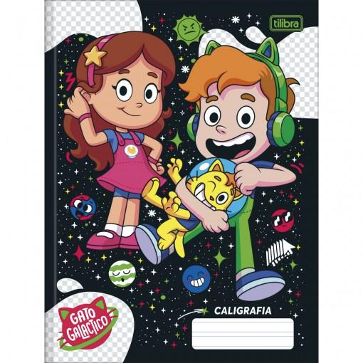 Caderno de Caligrafia Brochura Capa Dura Gato Galactico 40 Folhas (Pacote com 5 unidades) - Sortido
