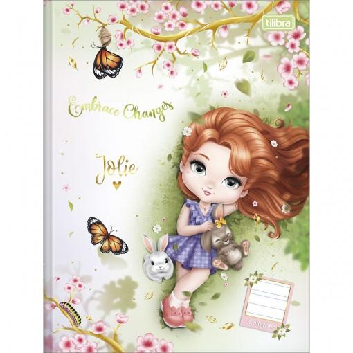 Caderno de Caligrafia Brochura Capa Dura Jolie 40 Folhas (Pacote com 5 unidades) - Sortido