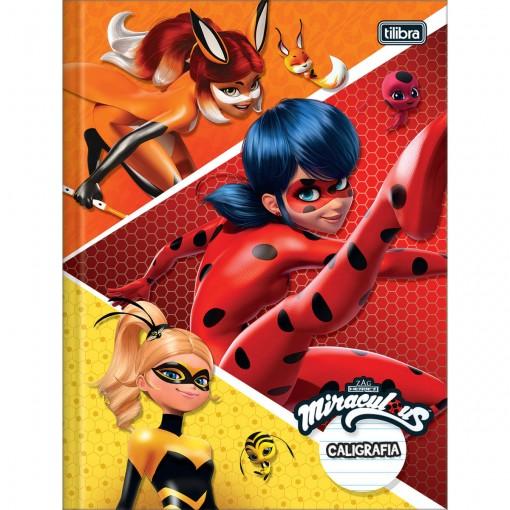 Caderno de Caligrafia Brochura Capa Dura Miraculous: Ladybug 40 Folhas (Pacote com 5 unidades) - Sortido