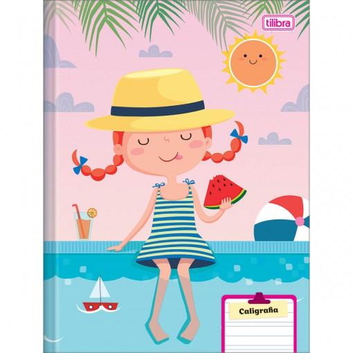 Caderno de Caligrafia Brochura Capa Dura Sapeca Feminino 40 Folhas (Pacote com 8 unidades) - Sortido