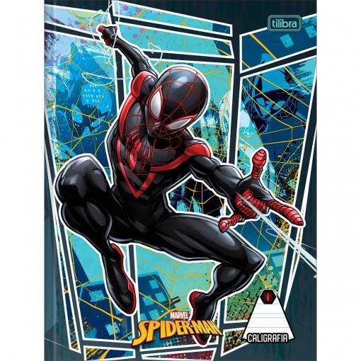 Caderno de Caligrafia Brochura Capa Dura Spider-Man 40 Folhas (Pacote com 5 unidades) - Sortido