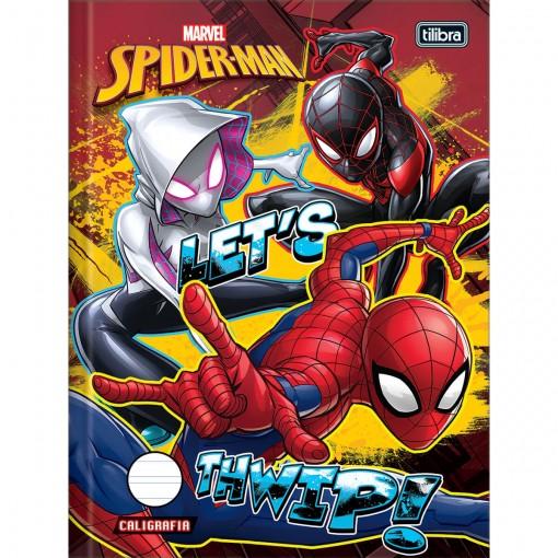 Caderno de Caligrafia Brochura Capa Dura Spider-Man 40 Folhas - Sortido (Pacote com 5 unidades)