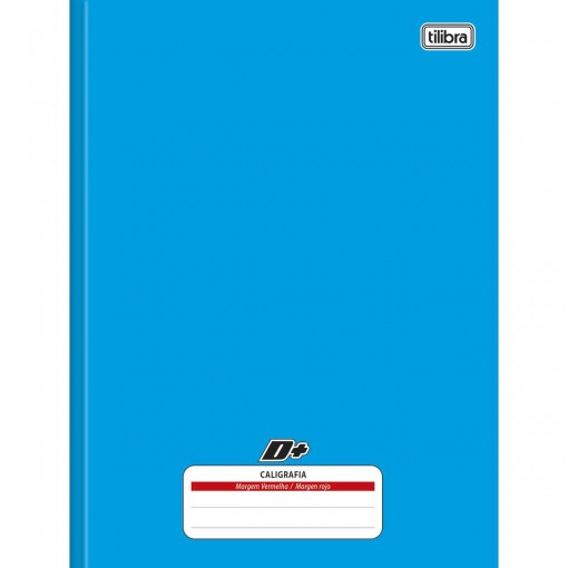 Caderno de Caligrafia Brochura Capa Dura Universitário D+ Azul 96 Folhas