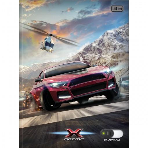 Caderno de Caligrafia Brochura Capa Dura X-Racing 40 Folhas (Pacote com 5 unidades) - Sortido