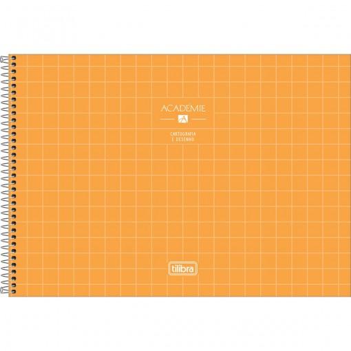 Caderno de Cartografia e Desenho Espiral Capa Dura Académie Feminino 80 Folhas (Pacote com 4 unidades) - Sortido