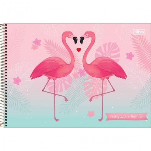 Caderno de Cartografia e Desenho Espiral Capa Dura Aloha 80 Folhas (Pacote com 4 unidades) - Sortido