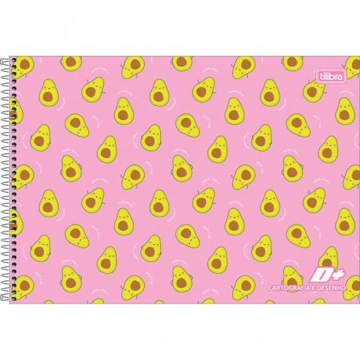 Caderno de Cartografia e Desenho Espiral Capa Dura D+ Feminino 96 Folhas (Pacote com 4 unidades) - Sortido