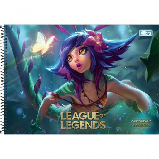 Caderno de Cartografia e Desenho Espiral Capa Dura League of Legends 80 Folhas (Pacote com 4 unidades) - Sortido