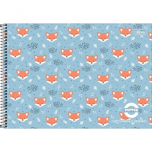 Caderno de Cartografia e Desenho Espiral Capa Dura Masc./Fem. Pepper 80 Folhas (Pacote com 4 unidades) - Sortido