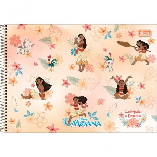 Caderno de Cartografia e Desenho Espiral Capa Dura Moana 80 Folhas (Pacote com 4 unidades) - Sortido