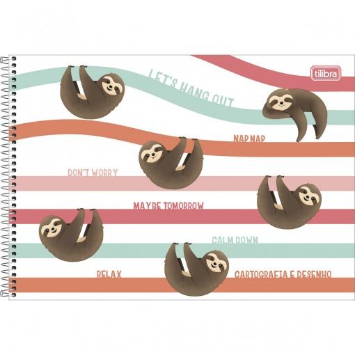 Caderno de Cartografia e Desenho Espiral Capa Dura Nap Nap 80 Folhas (Pacote com 4 unidades) - Sortido
