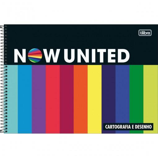 Caderno de Cartografia e Desenho Espiral Capa Dura Now United 80 Folhas - Sortido