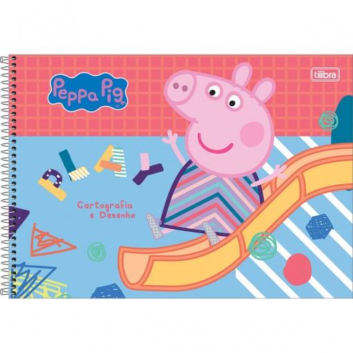 Caderno de Cartografia e Desenho Espiral Capa Dura Peppa Pig 80 Folhas (Pacote com 4 unidades) - Sortido