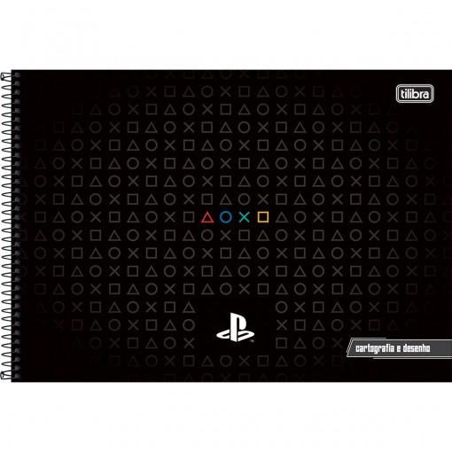 Caderno de Cartografia e Desenho Espiral Capa Dura PlayStation 80 Folhas (Pacote com 4 unidades) - Sortido