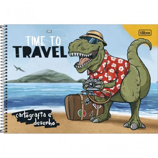 Caderno de Cartografia e Desenho Espiral Capa Dura Raptor 80 Folhas (Pacote com 4 unidades) - Sortido
