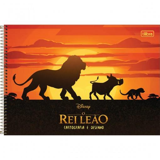 Caderno de Cartografia e Desenho Espiral Capa Dura Rei Leão 80 Folhas (Pacote com 4 unidades) - Sortido