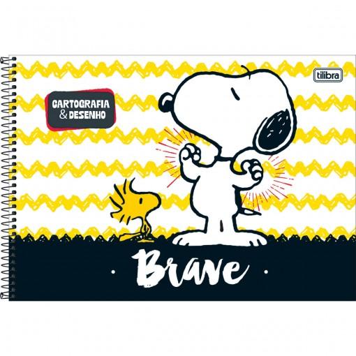 Caderno de Cartografia e Desenho Espiral Capa Dura Snoopy 96 Folhas (Pacote com 4 unidades) - Sortido