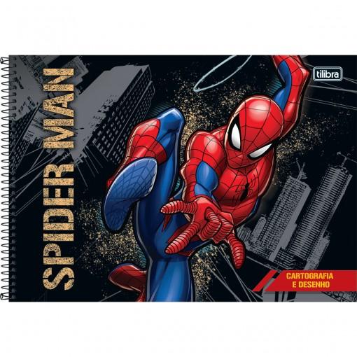 Caderno de Cartografia e Desenho Espiral Capa Dura Spider-Man 80 Folhas (Pacote com 4 unidades) - Sortido