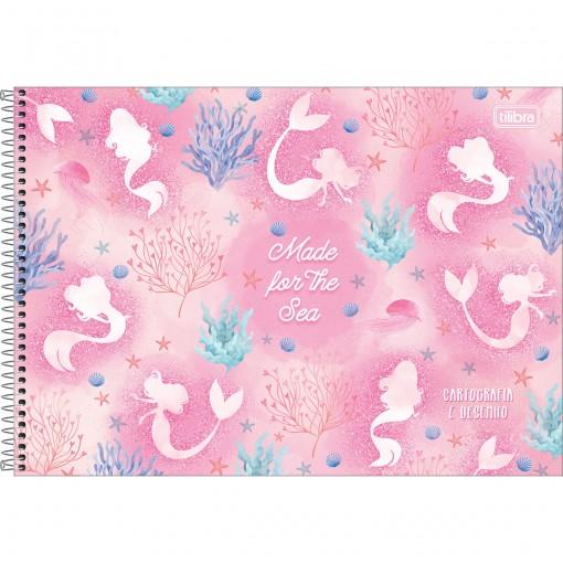 Caderno de Cartografia e Desenho Espiral Capa Dura Wonder 80 Folhas - Made for the Sea - Sortido