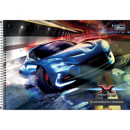 Caderno de Cartografia e Desenho Espiral Capa Dura X-Racing 80 Folhas (Pacote com 4 unidades) - Sortido