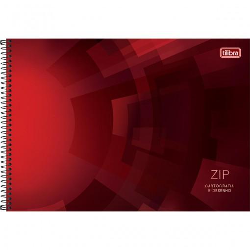 Caderno de Cartografia e Desenho Espiral Capa Dura Zip 96 Folhas (Pacote com 4 unidades) - Sortido
