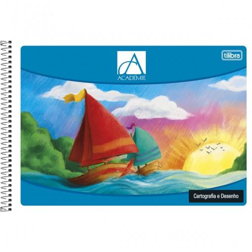 Caderno de Cartografia e Desenho Espiral Capa Flexível Académie 96 Folhas