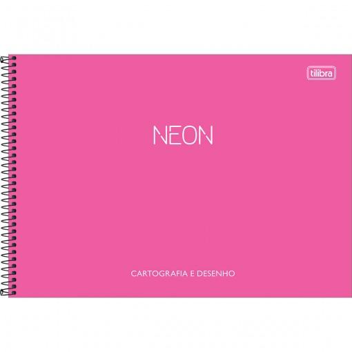 Caderno de Cartografia e Desenho Espiral Capa Plástica Neon 80 Folhas (Pacote com 4 unidades) - Sortido