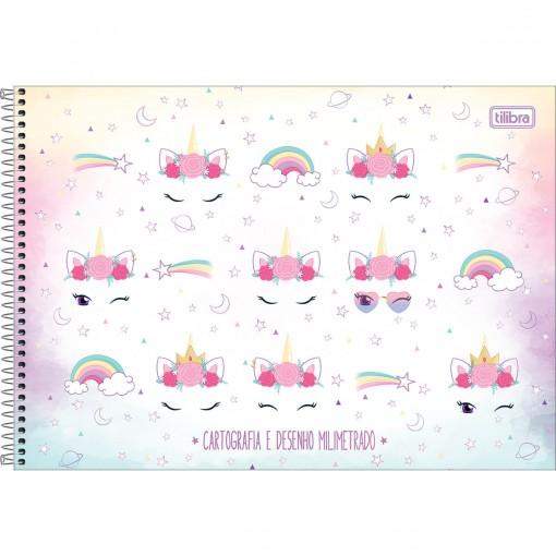 Caderno de Cartografia e Desenho Milimetrado Espiral Capa Dura Blink 80 Folhas (Pacote com 4 unidades) - Sortido