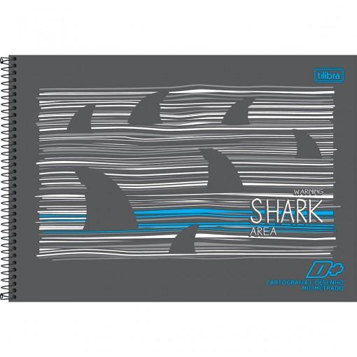 Caderno de Cartografia e Desenho Milimetrado Espiral Capa Dura D+ Masculino 96 Folhas (Pacote com 4 unidades) - Sortido
