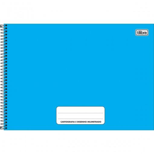 Caderno de Cartografia e Desenho Milimetrado Espiral Capa Dura Pepper 80 Folhas (Pacote com 4 unidades) - Sortido