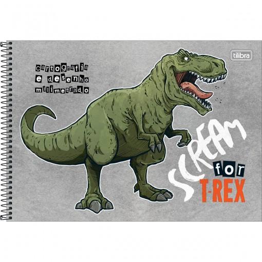 Caderno de Cartografia e Desenho Milimetrado Espiral Capa Dura Raptor 80 Folhas (Pacote com 4 unidades) - Sortido