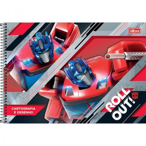 Caderno de Cartografia e Desenho Transformers Espiral Capa Dura 80 Folhas (Pacote com 4 unidades) - Sortido
