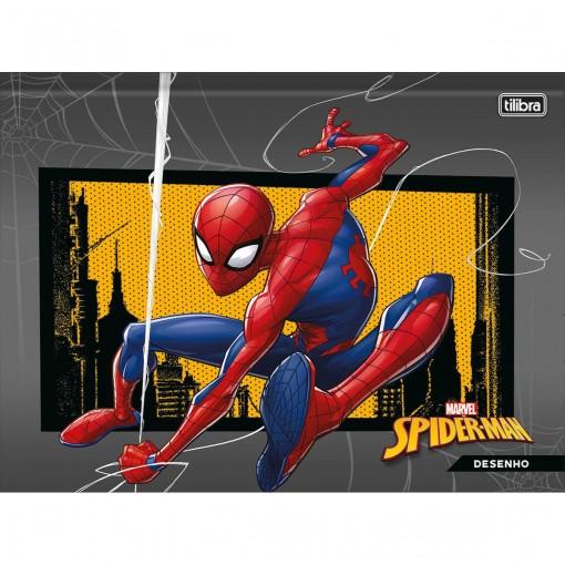 Caderno de Desenho Brochura Capa Dura Universitário Spider-Man 80 Folhas (Pacote com 5 unidades) - Sortido