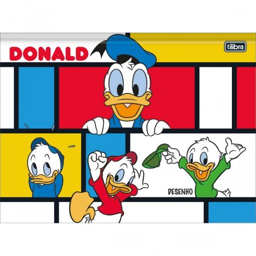 Caderno de Desenho Brochura Universitário Capa Dura Donald 80 Folhas (Pacote com 5 unidades) - Sortido