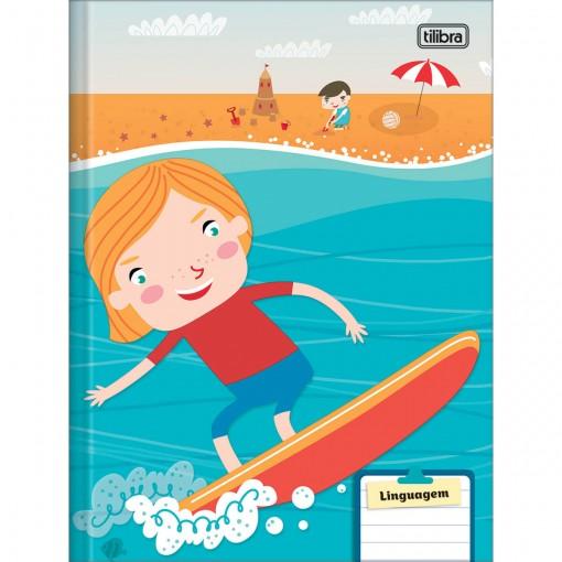 Caderno de Linguagem Brochura Capa Dura Sapeca 40 Folhas (Pacote com 8 unidades) - Sortido