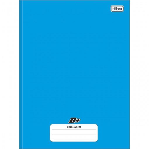 Caderno de Linguagem Brochura Universitário Capa Dura D+ Azul 96 Folhas